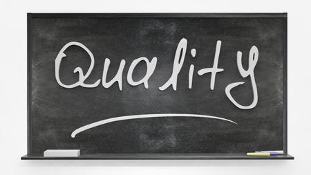 characteristic: Quality written on blackboard