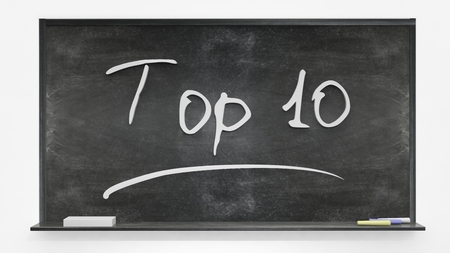 interesting: Top 10 written on blackboard