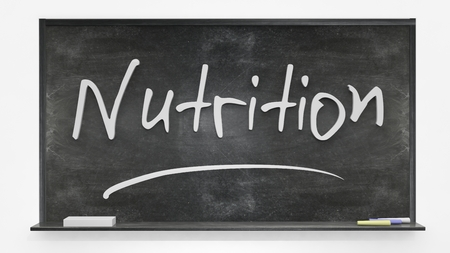 written: Nutrition written on blackboard