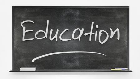 written: Education written on blackboard Stock Photo