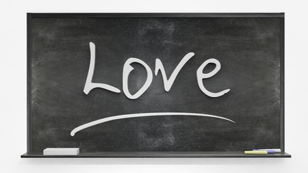 written: Love written on blackboard