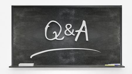 qa: Q&A written on blackboard