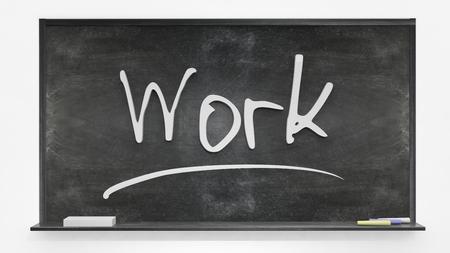 written: Work written on blackboard