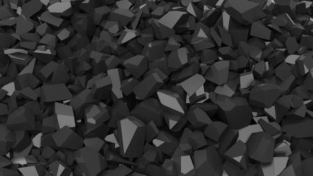black pebbles: Black pebbles pile abstract background.