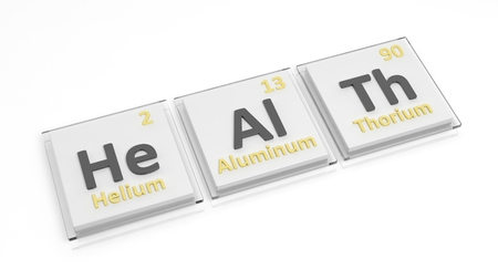 Periodic table of elements symbols used to form word health stock periodic table of elements symbols used to form word health isolated on white stock urtaz Image collections