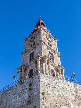 Church against blue sky, Rhodes Greece