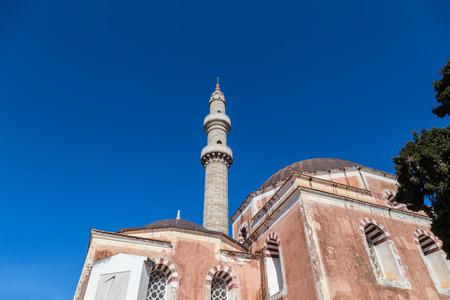 suleymaniye: Suleymaniye Mosque on blue sky, Rhodes Greece