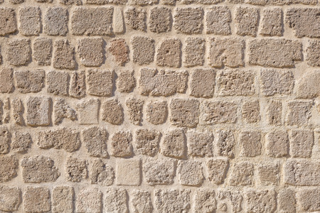 floors: Stone brick wall texture background. Stock Photo