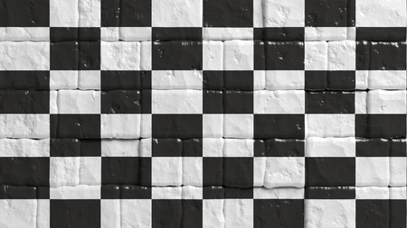formula one: Brick wall with painted flag of Formula One
