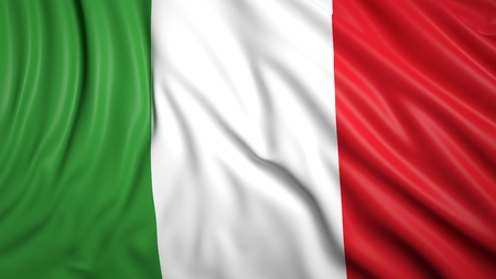 italy background: Wavy flag of Italy closeup background Stock Photo