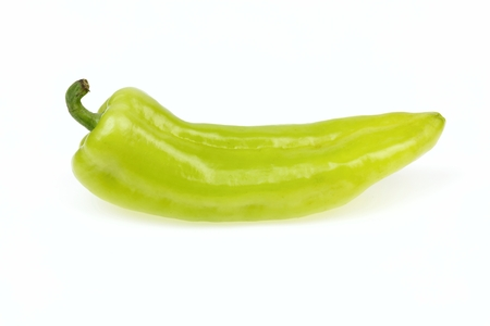 pointy: Pointy green pepper, on white background.