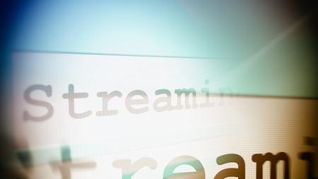 comunicación escrita: primer plano de la ilustraci�n representaci�n 3D de palabra de streaming en l�nea de b�squeda del navegador