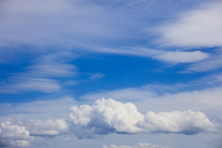 skyscape: Beautiful idyllic skyscape with white clouds
