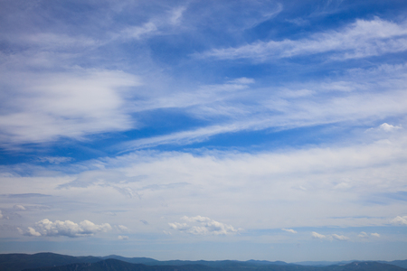 endless: Summer skyscape over endless mountains