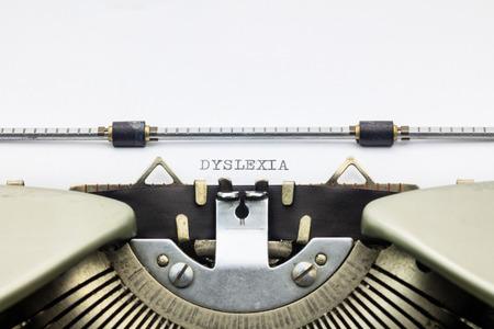 dyslexia: Close-up of word Dyslexia on typewriter sheet Stock Photo