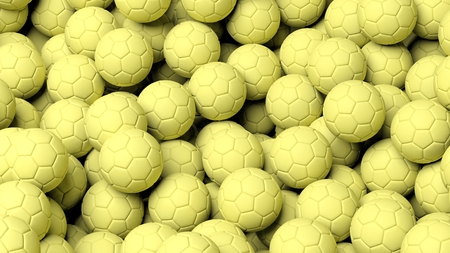waterpolo: Close-up of waterpolo balls background Stock Photo
