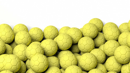 waterpolo: 3D rendering waterpolo balls on white background Stock Photo