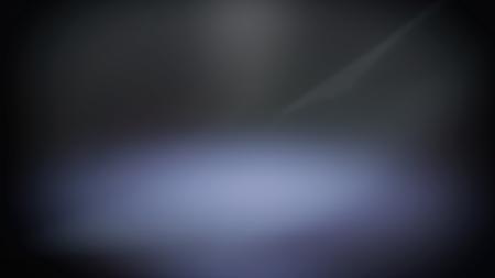 Blue blurred spotlight, dark abstract background