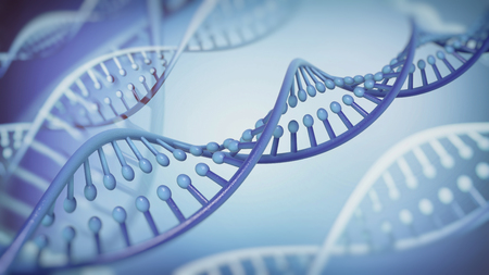 double helix: DNA Double Helix abstract background. 3D rendering