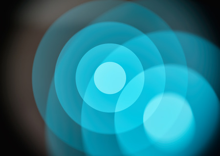 circles: Circles in circles, blue geometric abstract background. Stock Photo