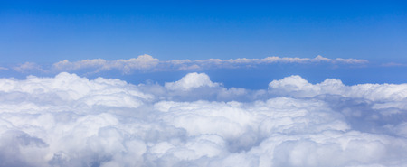 endless: endless white clouds under bright blue sky
