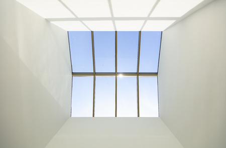Skylight window on a buildings roof