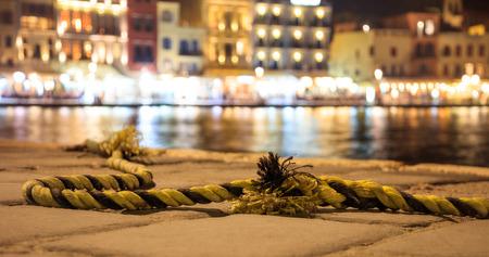 Nautical rope on a quay - Greece, Chania port