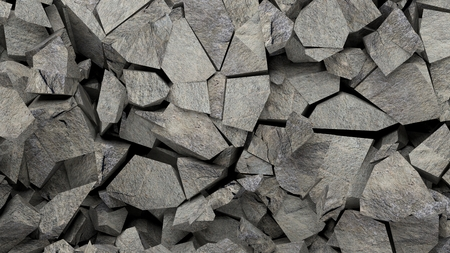 Mineral rocks pieces background. 3d illustration Stock Photo