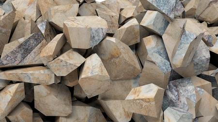 Mineral Felsen Stücke Hintergrund. 3D-Darstellung Standard-Bild - 84569664