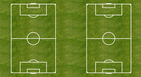 Two soccer (football) grass fields layout