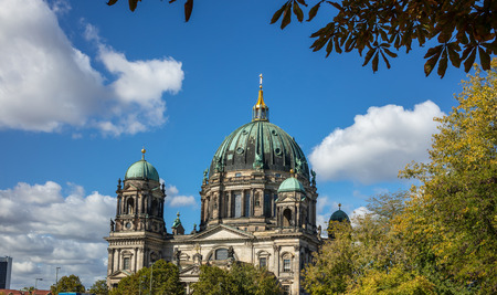 Berliner Dom, cathedral church on island museum in Berlin, Germany. Stock Photo
