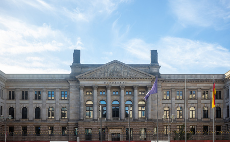 Berlin, Bundesrat building under  german cloudy sky