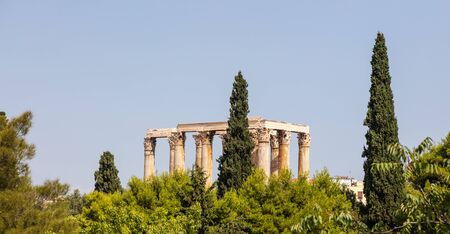 The Temple of Olympian Zeus in Athens greece