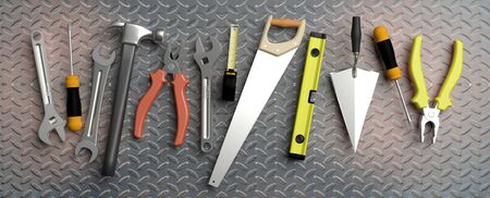 Various Hand  tools with copy space