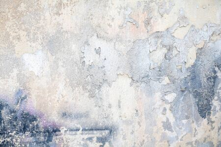White blue color, painted and faded wall texture grunge background, building facade wall grunge material
