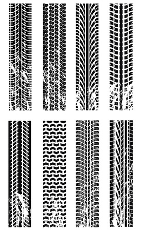 Various tyre tracks Stock Vector - 6346900