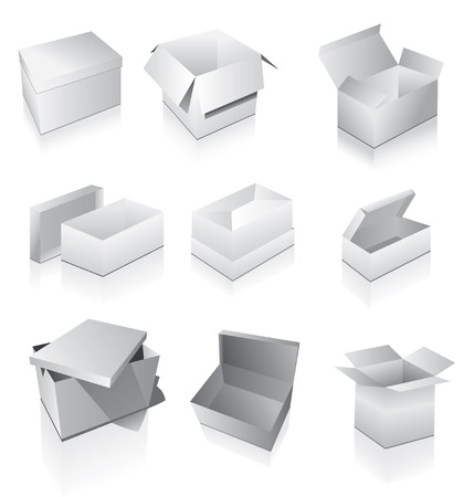 packer: Set of boxes Illustration