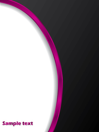 Black with pink stripe Vector