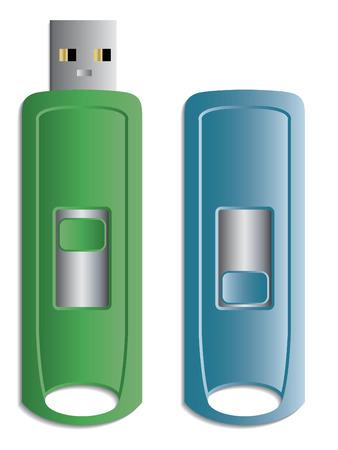Hideable USB stick Vector