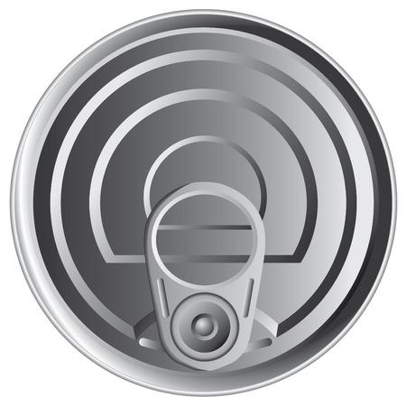 aluminio: Parte superior de la lata