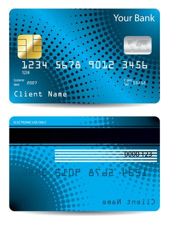 credit card: Halftone credit card design  Illustration