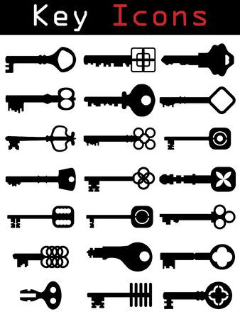 keys isolated: Conjunto de icono de clave  Vectores