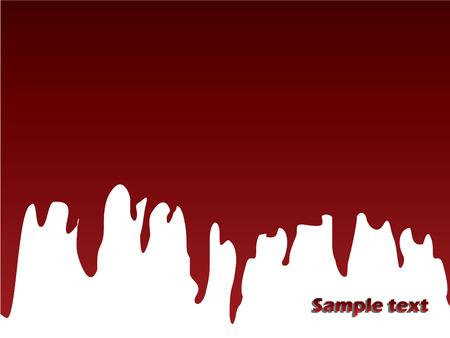 leaking: Paint leaking Illustration