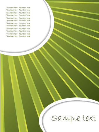 Green rays Stock Vector - 6620673