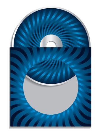 cd case: Cd azul con funda  Vectores
