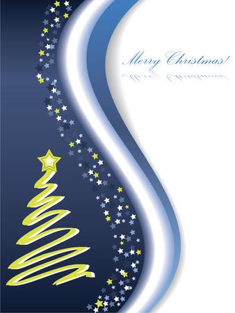 Merry Christmas card Stock Vector - 6620783