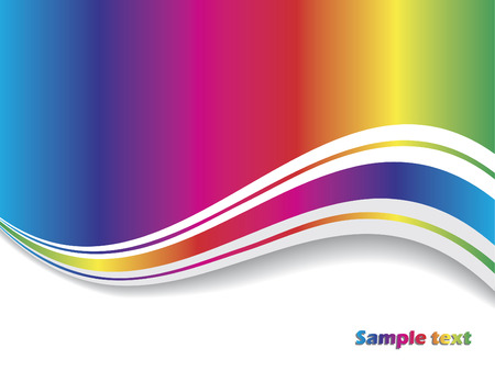 Abstract rainbow with wave Stock Vector - 6620843