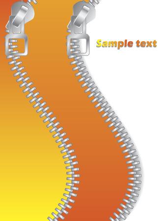 sosie: Orange Double ZIP Illustration