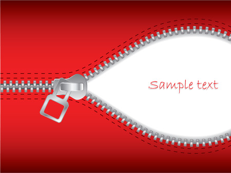 unzip: Zip it in red color