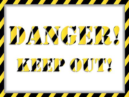 Danger! background  Vector